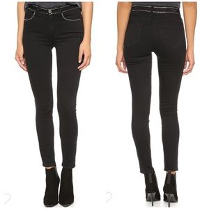Paige | Hoxton Ankle Jeans Studded Imperial Noir